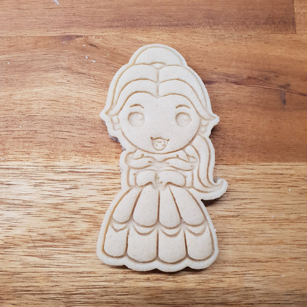 Chibi Belle Cookie Cutter and stamp - just-little-luxuries