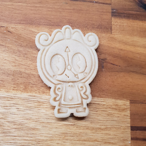 Chibi Cogsworth Cookie Cutter and stamp - just-little-luxuries