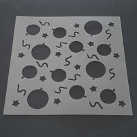 Balloons and Streamers Cookie Stencil - just-little-luxuries