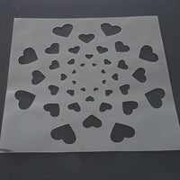 Circular Hearts Pattern Cookie Stencil - just-little-luxuries
