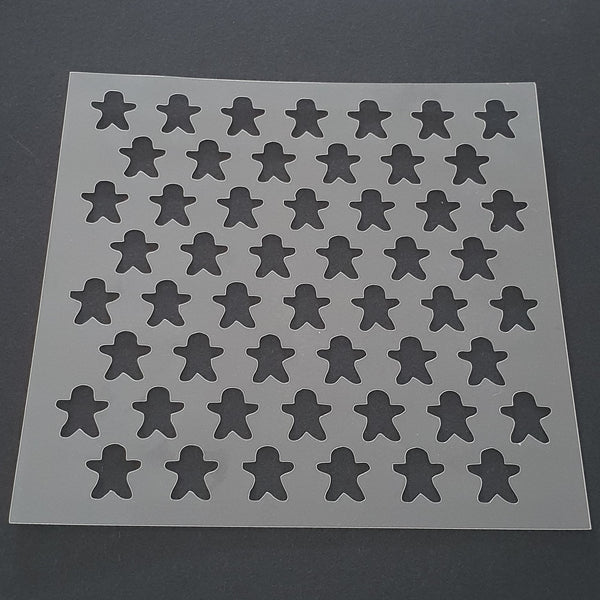 Ginger Bread Men Pattern Cookie Stencil - just-little-luxuries