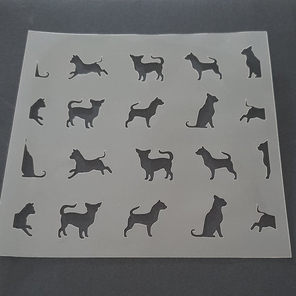 Chihuahua Scatter Cookie Stencil - just-little-luxuries