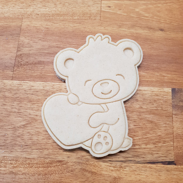 Teddy Bear with Heart Cookie Cutter - just-little-luxuries