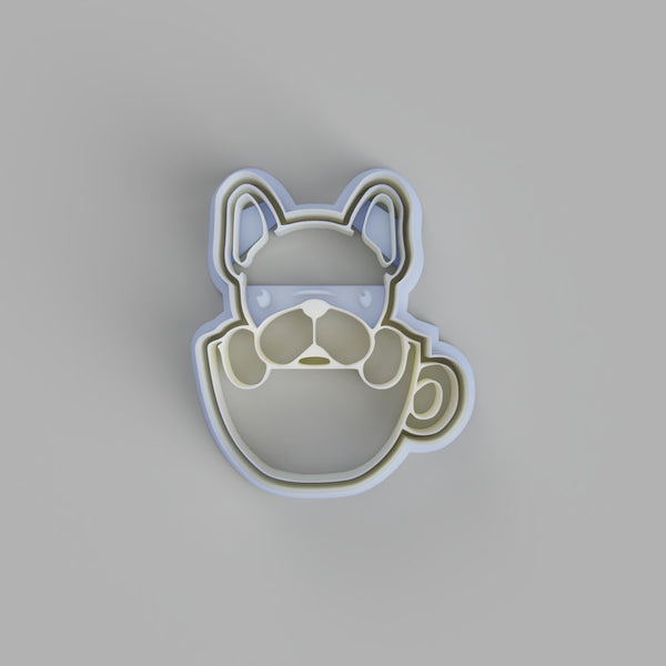 French Bulldog In Tea Cup Cookie Cutter - just-little-luxuries