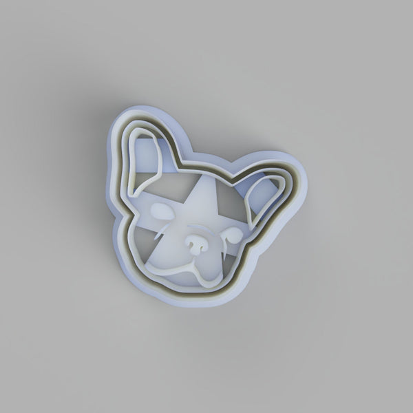 French Bulldog Face Cookie Cutter - just-little-luxuries
