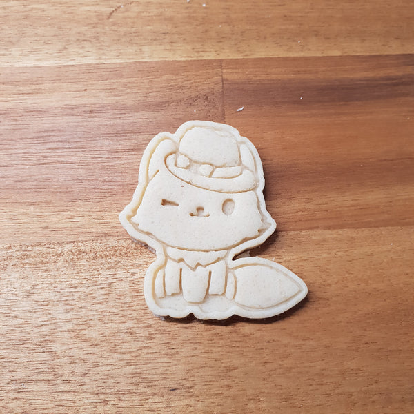 Fox with hat cookie cutter and stamper - just-little-luxuries