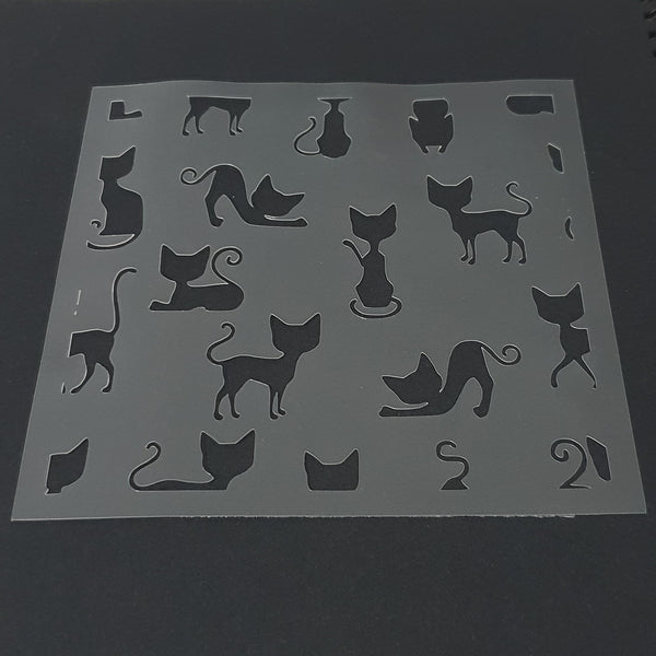 Cat Pattern Cookie Stencil - just-little-luxuries