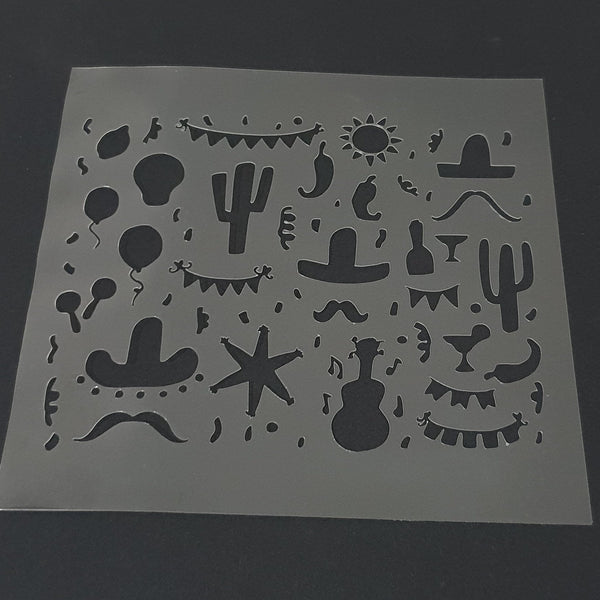 Fiesta Pattern Cookie Stencil - just-little-luxuries