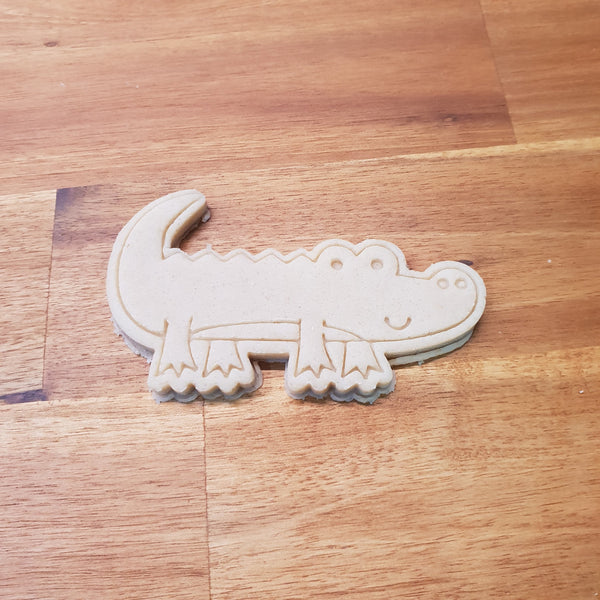 Alligator cookie cutter and stamper - just-little-luxuries