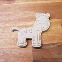 Zebra cookie cutter and stamper - just-little-luxuries