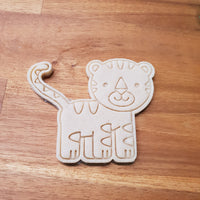 Tiger cookie cutter and stamper - just-little-luxuries