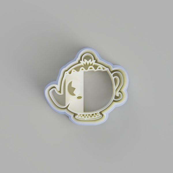 Chibi Mrs Potts Cookie Cutter and stamp - just-little-luxuries