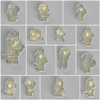 Bluey cookie cutter and stamper collection. 14 cookie cutters and stampers - just-little-luxuries