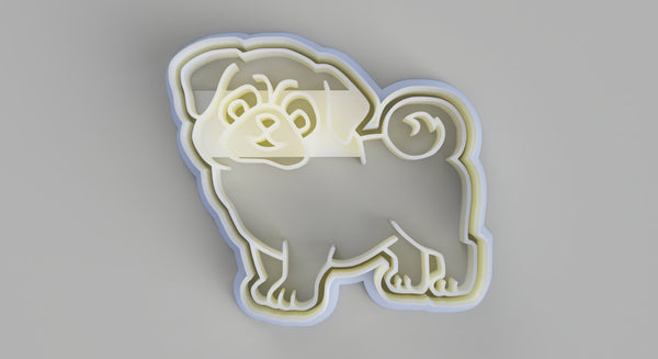 Pug cookie cutter and stamper - just-little-luxuries