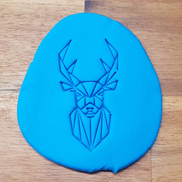 Geometric Deer Cookie Embosser - just-little-luxuries