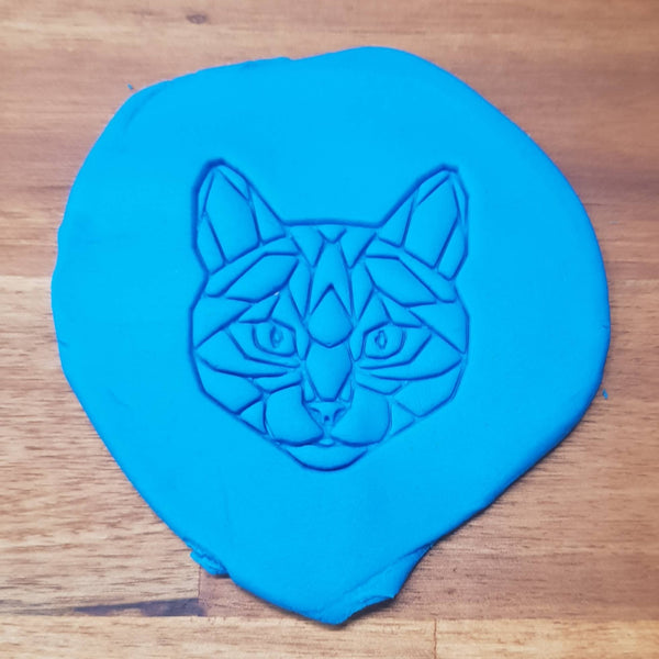Geometric Cat Cookie Embosser - just-little-luxuries