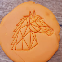 Geometric horse Cookie Embosser - just-little-luxuries