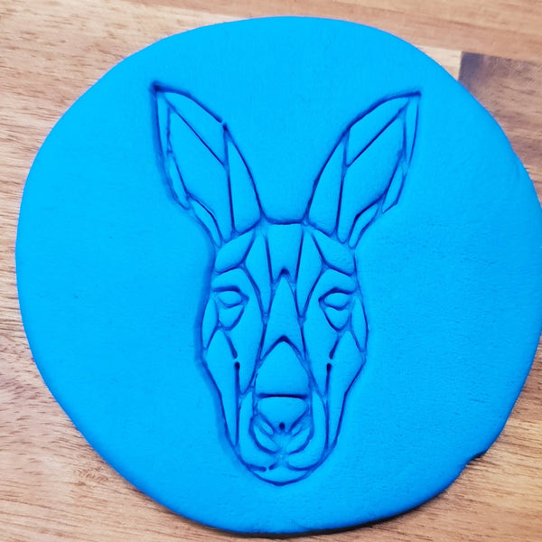 Geometric kangaroo Cookie Embosser - just-little-luxuries