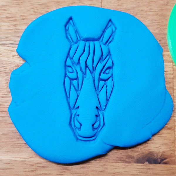 Geometric horse face Cookie Embosser - just-little-luxuries