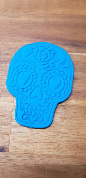 Sugar Skull Cookie Cutter and Embosser. Day of the dead - just-little-luxuries