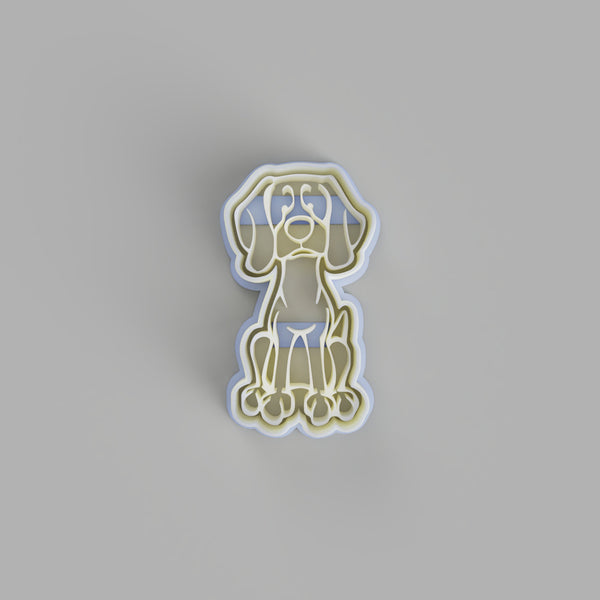 weimaraner dog cookie cutter - just-little-luxuries
