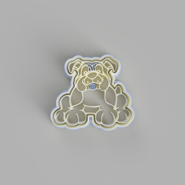 English Bulldog Cookie Cutter and Embosser - just-little-luxuries