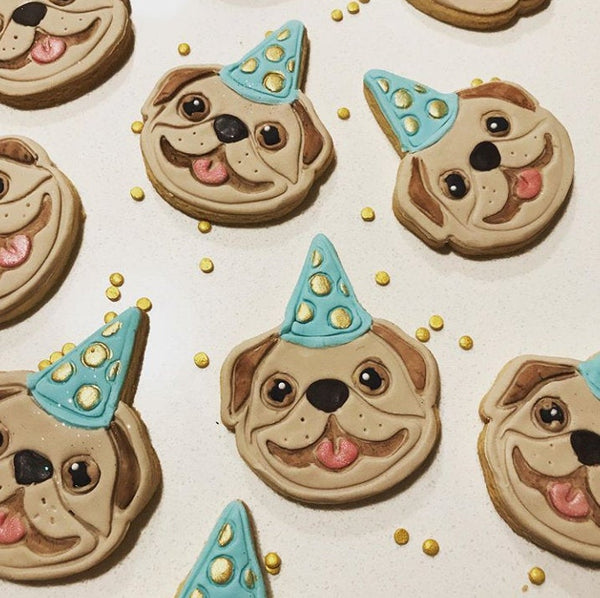 Party Pug Face Cookie Cutter and Embosser - just-little-luxuries