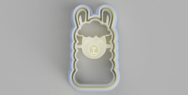 Llama Face Cookie Cutter and Stamper - just-little-luxuries