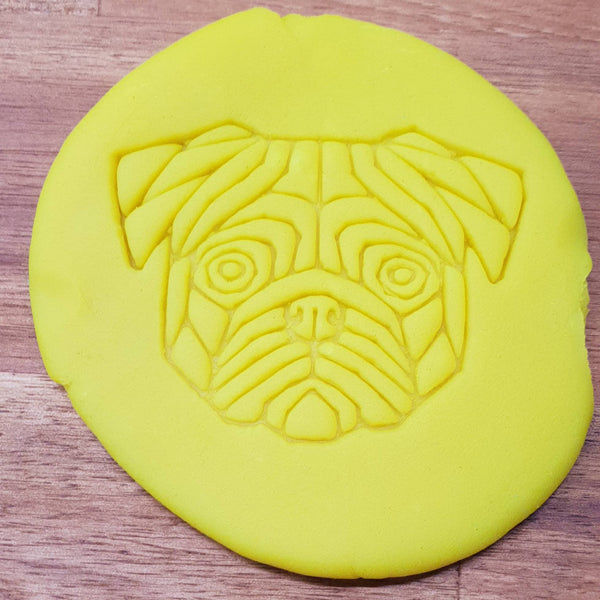 Geometric pug Cookie Embosser - just-little-luxuries