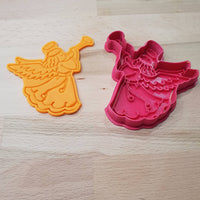 Christmas cookie cutter - Angel with trumpet - just-little-luxuries