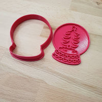 Christmas Snow Globe cookie cutter - Christmas Tree - just-little-luxuries