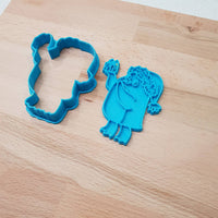 Penguin holding gift in hand - Christmas cookie cutter - just-little-luxuries
