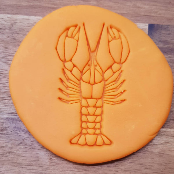 Geometric lobster Cookie Embosser - just-little-luxuries