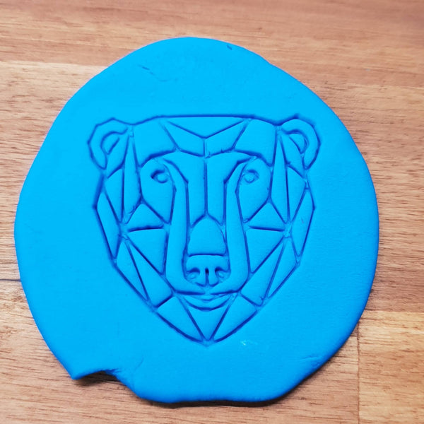 Geometric polar bear Cookie Embosser - just-little-luxuries