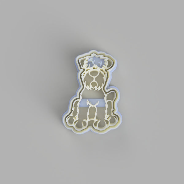 Black Russian Terrier Cookie Cutter and Embosser - just-little-luxuries