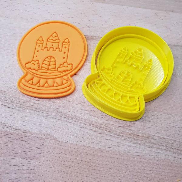 Christmas Snow Globe cookie cutter - Castle - just-little-luxuries