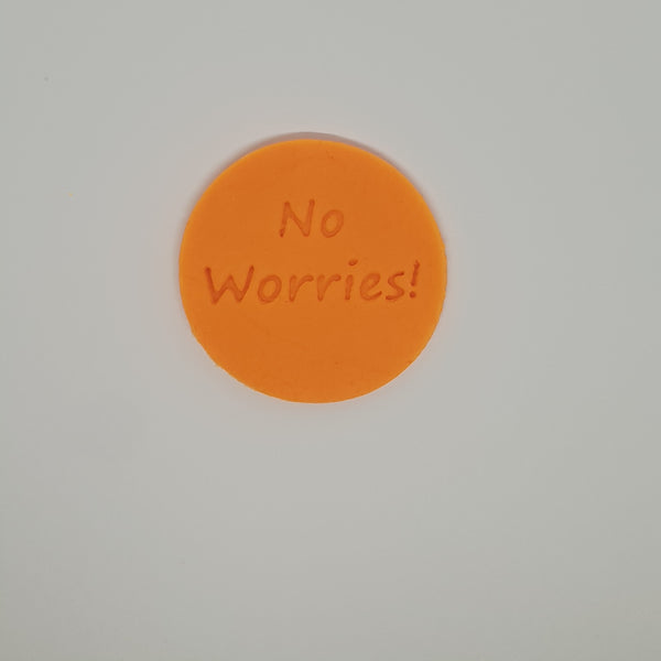 No Worries! - Australia Day cookie stamp fondant embosser - just-little-luxuries