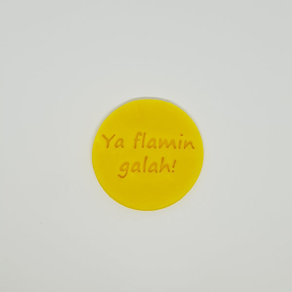 Ya Flamin Galah! - Australia Day cookie stamp fondant embosser - just-little-luxuries