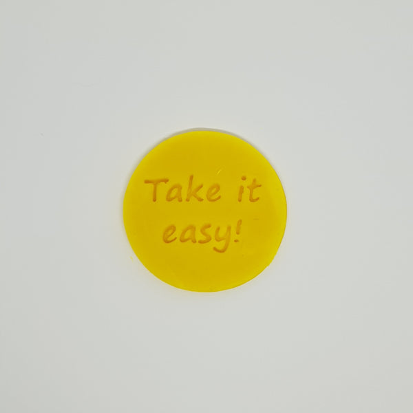 Take it easy! - Australia Day cookie stamp fondant embosser - just-little-luxuries