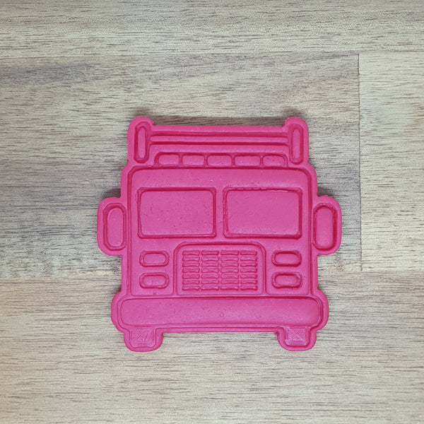 Fire Truck (front) Cookie cutter and embosser - just-little-luxuries