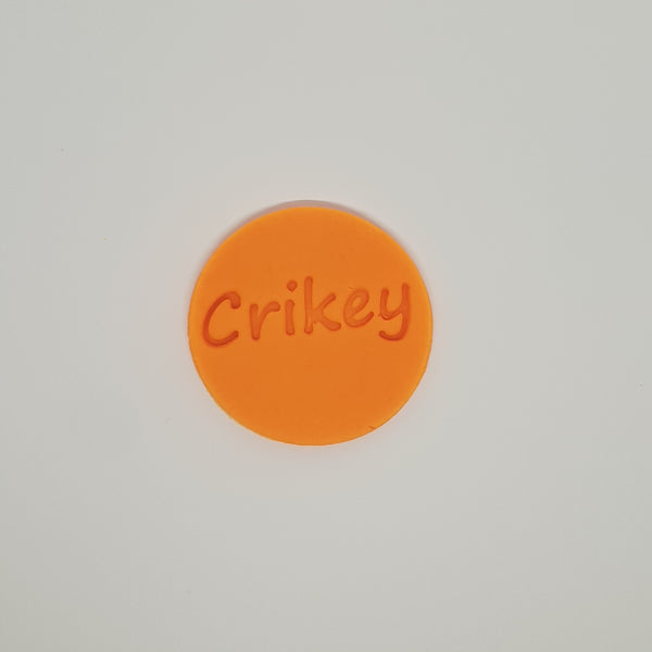 Crickey - Australia Day cookie stamp fondant embosser - just-little-luxuries
