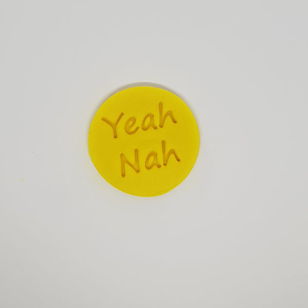Yeah Nah! - Australia Day cookie stamp fondant embosser - just-little-luxuries
