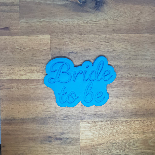 Bride to be Cookie Cutter and Embosser.