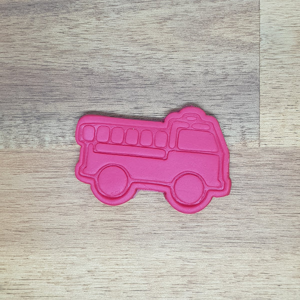 Fire Truck Cookie cutter and embosser - just-little-luxuries