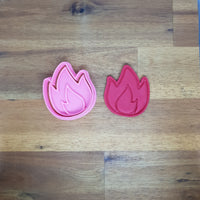 Fire Flame Blaze Cookie cutter and embosser