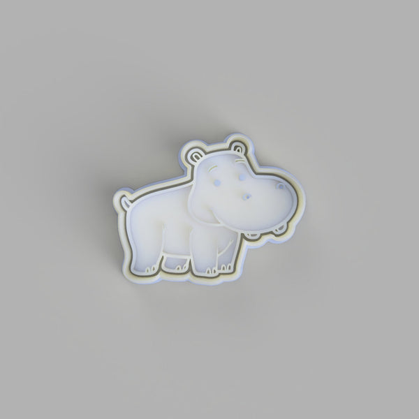 Hippo Cookie Cutter and Embosser.