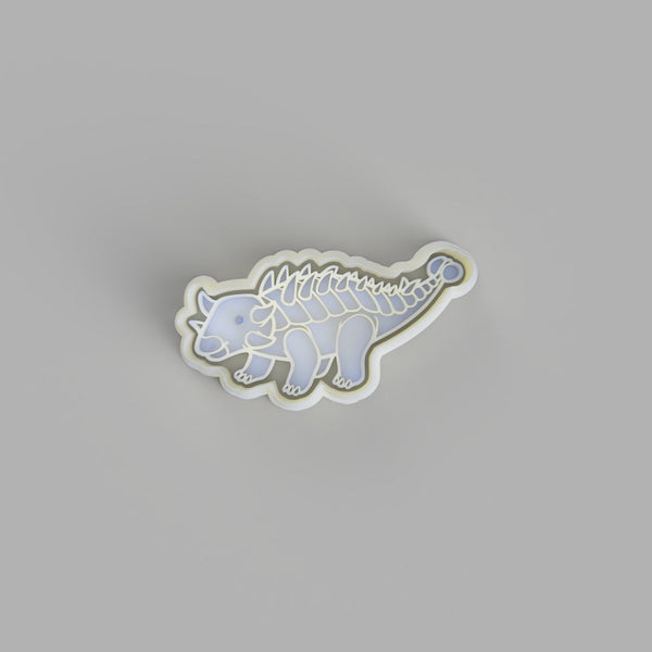 Euoplocephalus - Dinosaur Cookie Cutter and Embosser.
