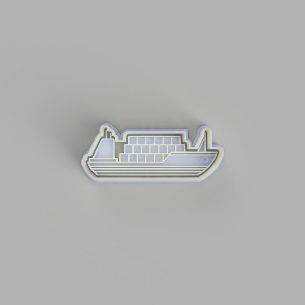 Cargo Ship Cookie Cutter and Embosser