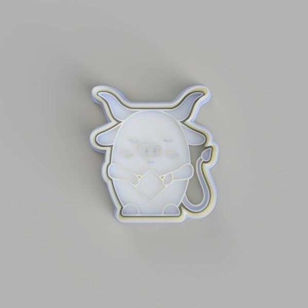 Chinese Horoscope/Zodiac Ox Cookie Cutter and Embosser.