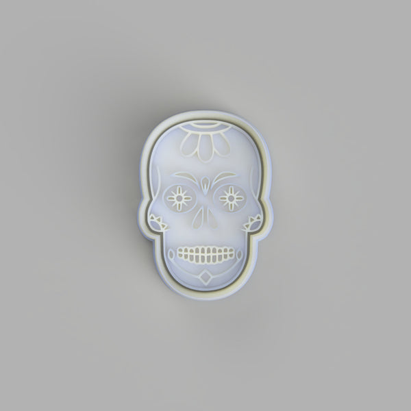 Sugar Skull - Tattoo Style Cookie Cutter and Embosser